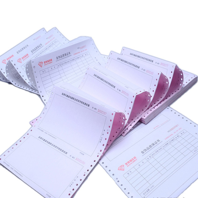 Invoice printing NCR Commercial invoice Duplicate triplicate book