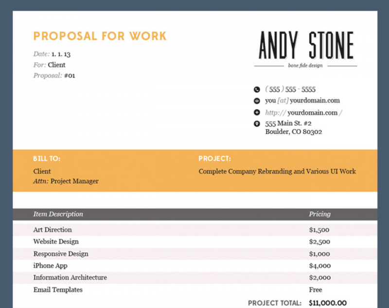 Invoice Proposal Template Collection Invoice Proposal Sample