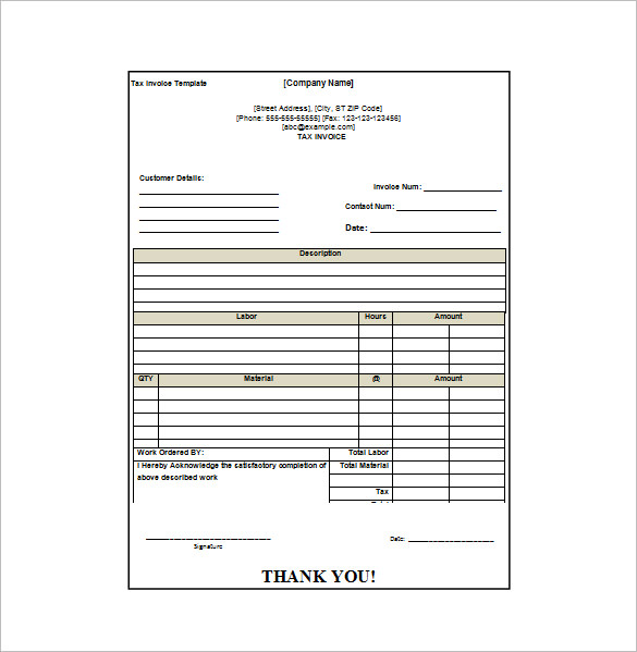 invoice receipt sample Acur.lunamedia.co