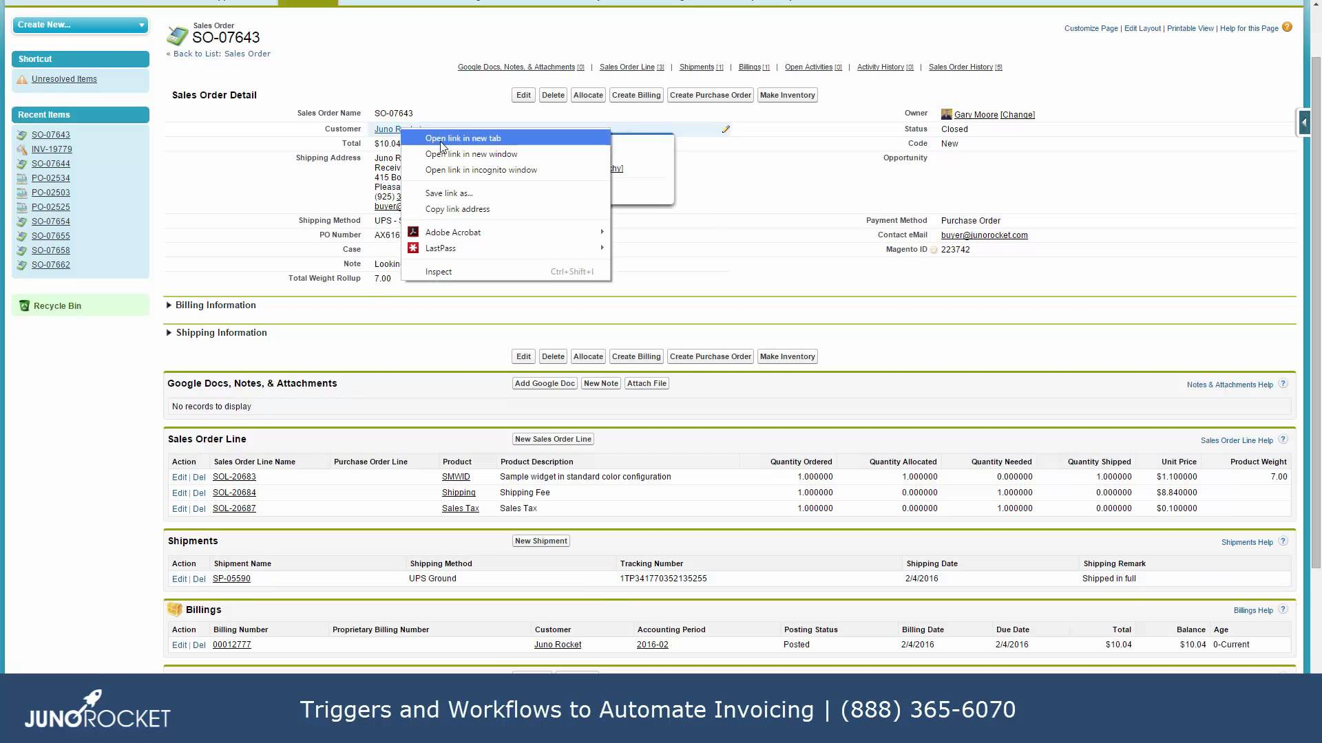 Generate an Invoice from an Opportunity Won in Salesforce | WebMerge
