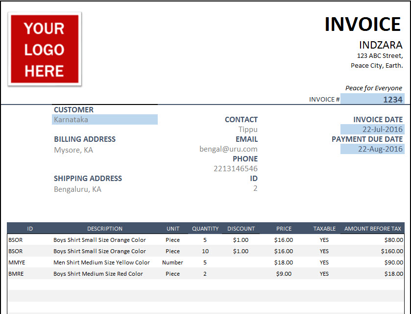 Invoice that calculates total (simple)