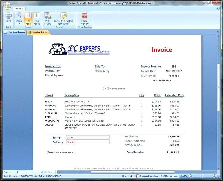 invoice generator software for pc – port by port