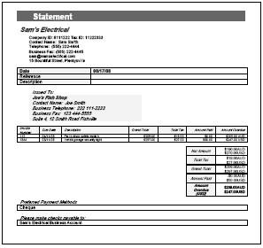 Free Billing Statement Templates | InvoiceBerry