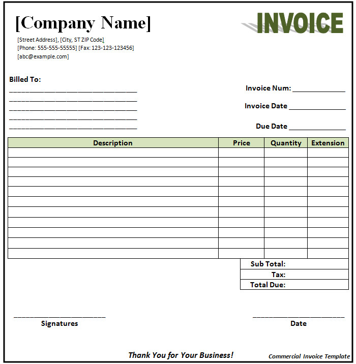 Invoice Format Template 50+ Free Word, PDF Documents Download