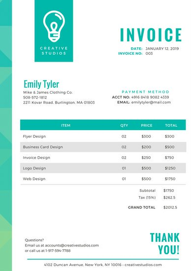 Customize 204+ Invoice templates online Canva