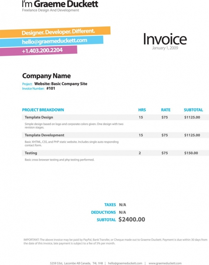 apple pages invoice template Ecza.solinf.co