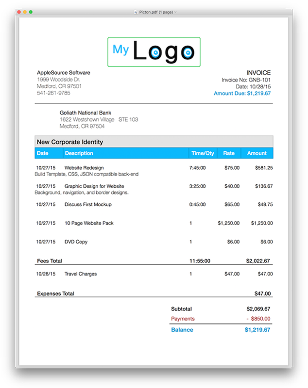Apple Invoice Template Pages Invoice Template Invoice Example
