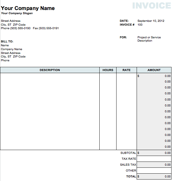 invoice template for numbers Acur.lunamedia.co