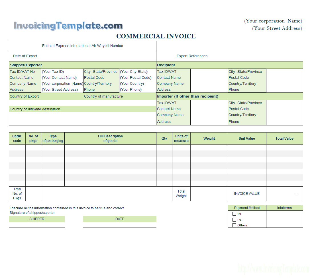 Invoicing Template with Logo