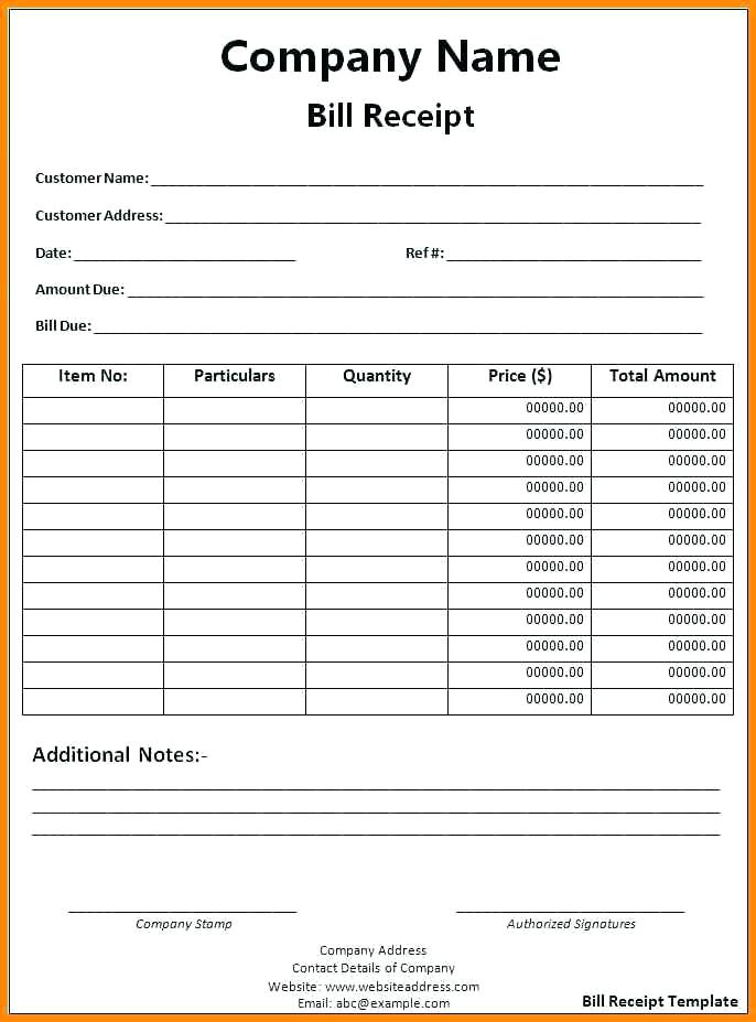 Free Book Format Doc Rent Receipt Template Bill Invoice To Go