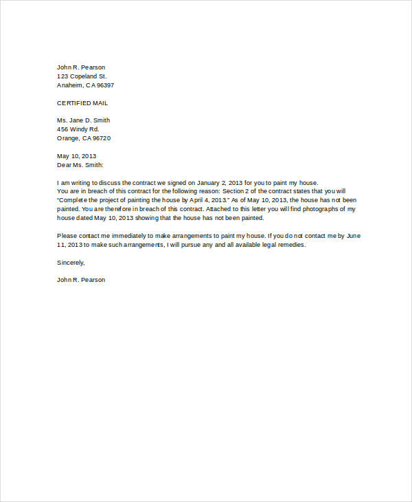 Letter of Termination Template 8+ Free Word, PDF Document