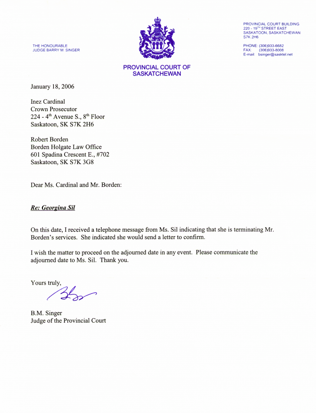 Letter of representation attorney thank you notes illinois dui