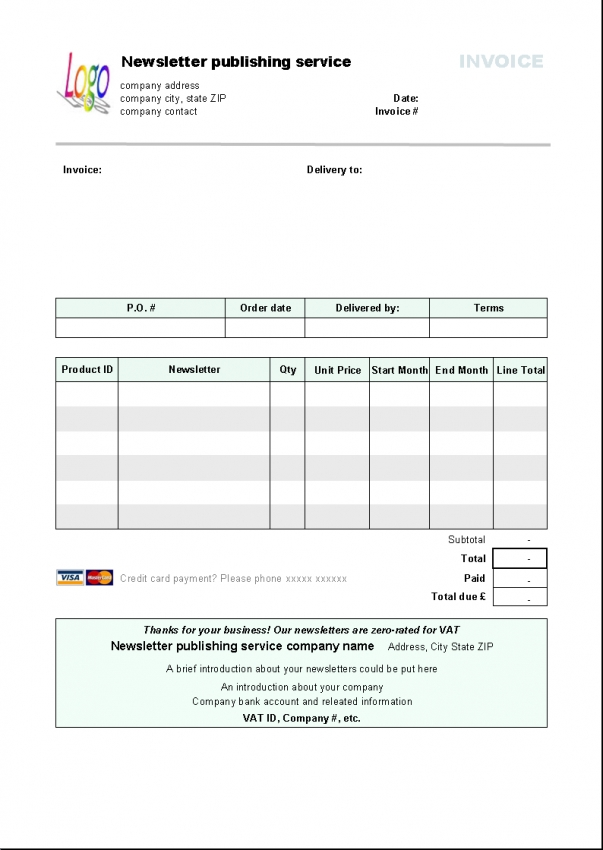 Simple Service Invoice — LibreOffice Extensions and Templates Website