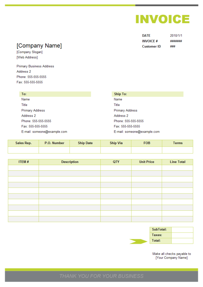 How To Create A Invoice Free Invoice Template How To Make A How To
