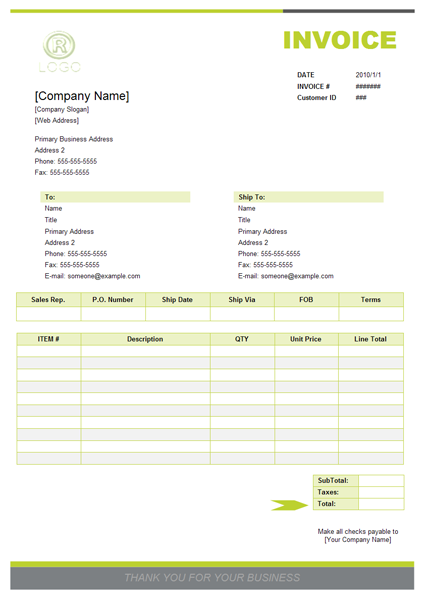 Make An Invoice Template Free Invoice Template Create Invoice