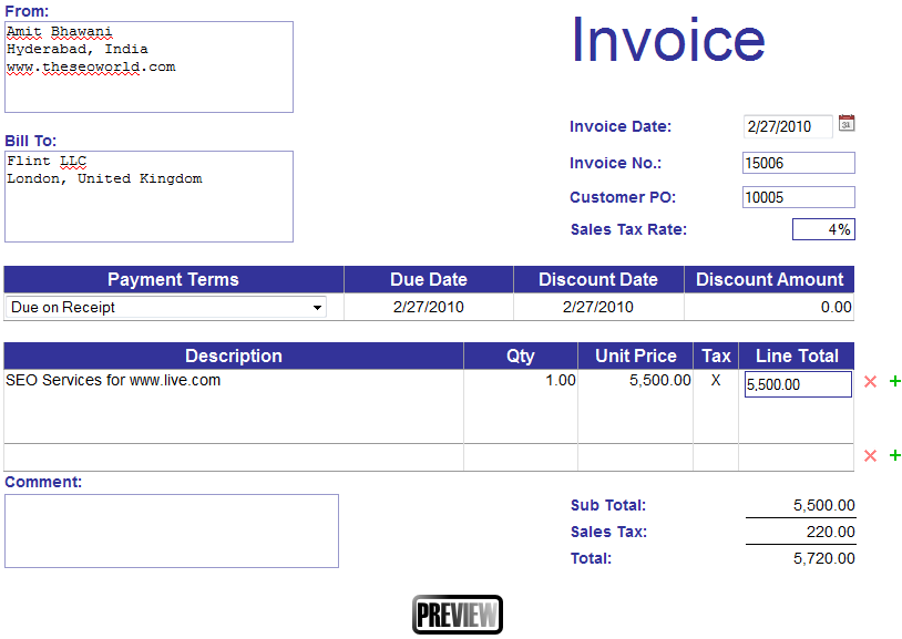 make invoices online Ecza.solinf.co