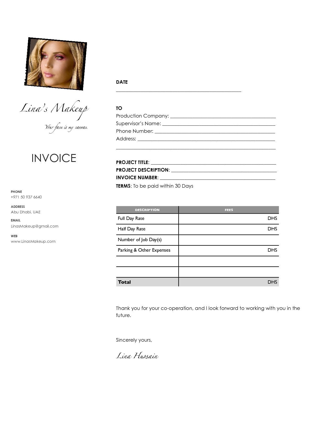 makeup invoice template Acur.lunamedia.co