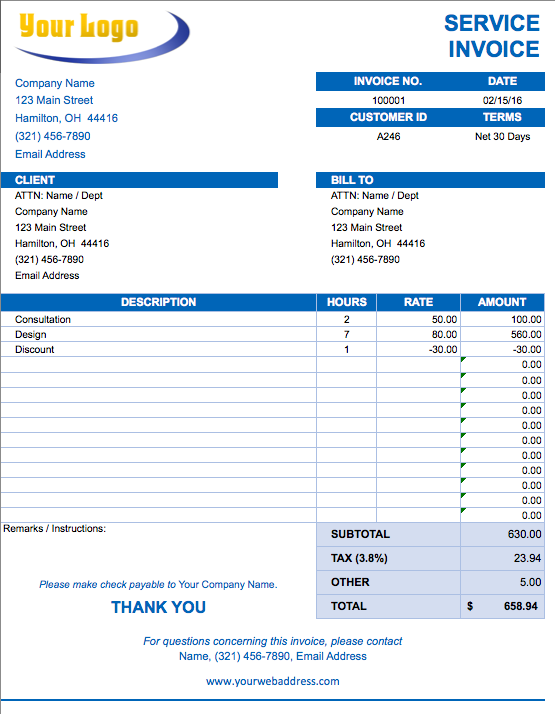marketing invoice template free excel invoice templates smartsheet