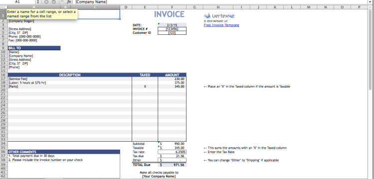 marketing invoice template free invoice templates you can use