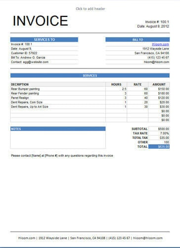 10 Free Freelance Invoice Templates [Word / Excel]