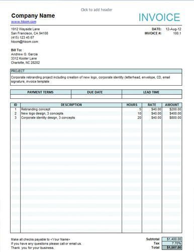 Service invoice template | Invoice templates | Pinterest