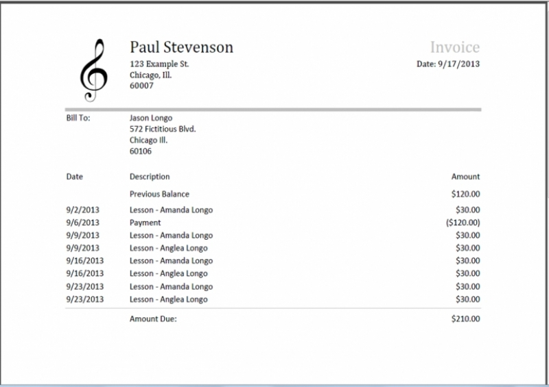 Musician Invoice Template Best Resume Collection Band Invoice Band