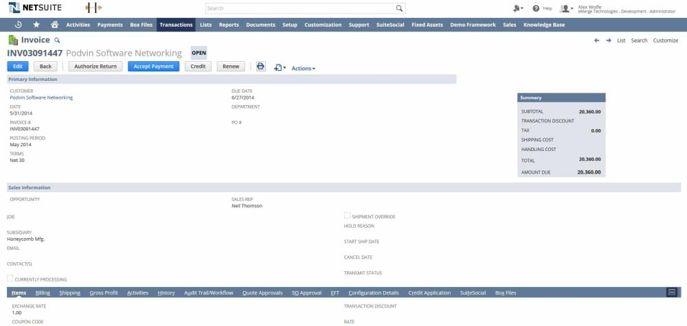 Customizing NetSuite Sending multiple invoices in one file