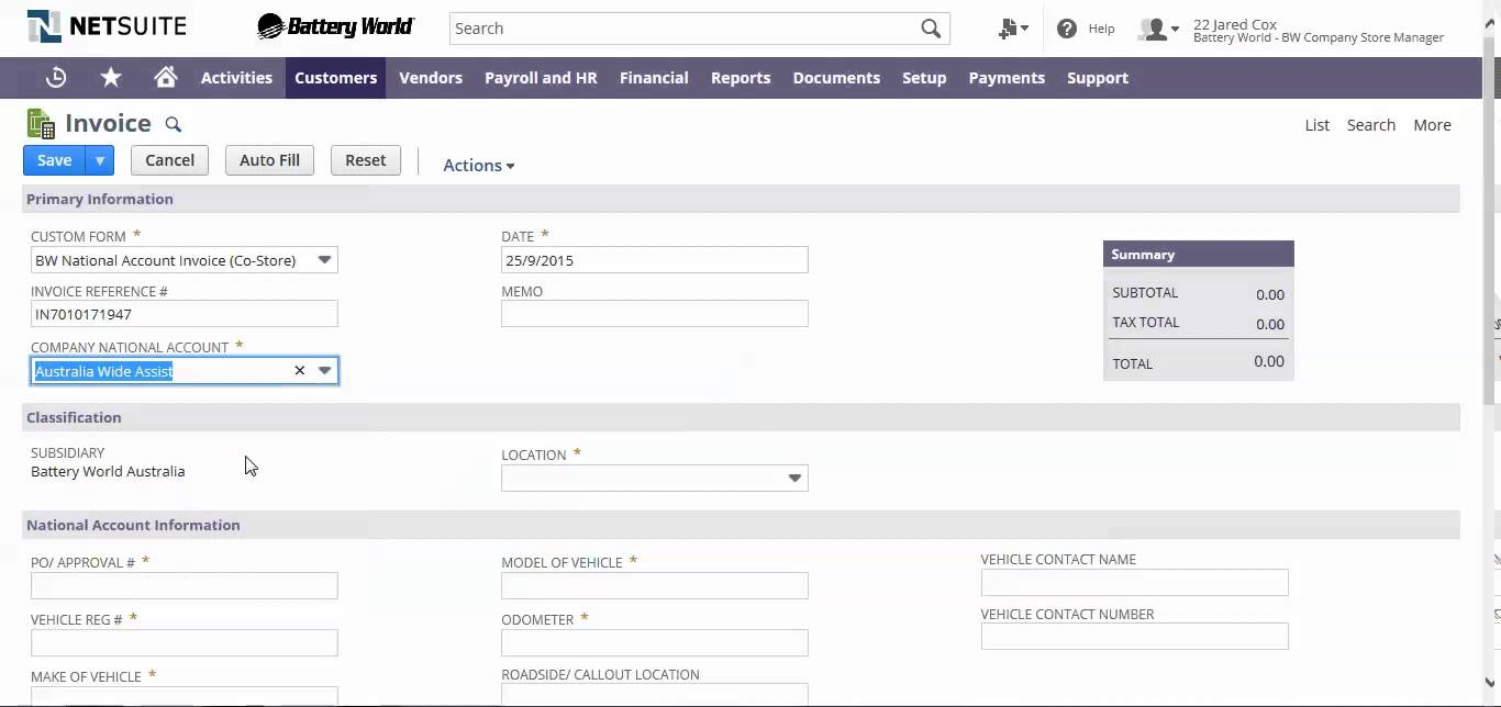 NetSuite Processing a National Account Invoice YouTube