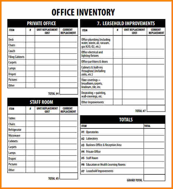 office inventory template supply inventory spreadsheet office list template plus 7
