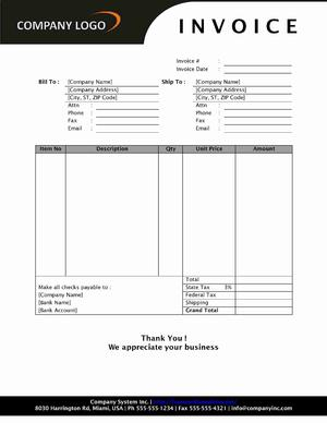invoice template for openoffice Black.dgfitness.co