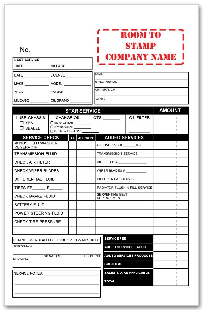 Oil Change Receipts Template Fill Online, Printable, Fillable