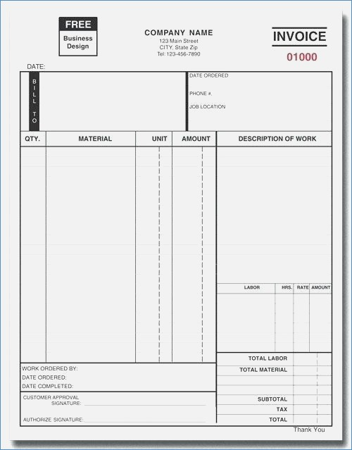 Locksmith Invoice forms The Heigths
