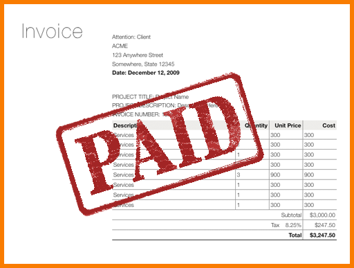 Paid In Full Invoice Template 6 Paid Invoice Template Receipt Paid