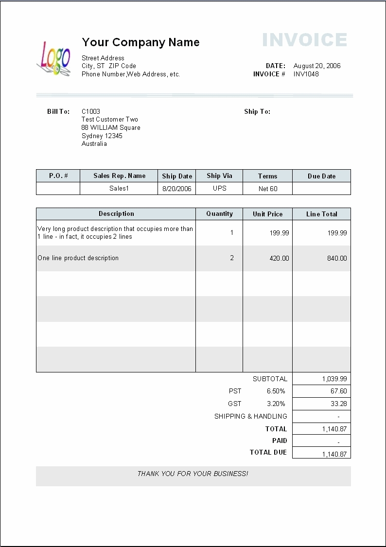Payment Invoice Example Apcc2017
