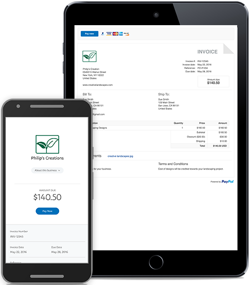 Free Online Invoicing Templates from PayPal