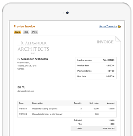 Online Invoicing: Create and Send Invoices via Email PayPal Canada