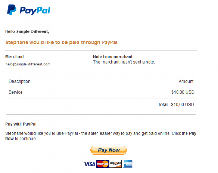 Paypal invoices