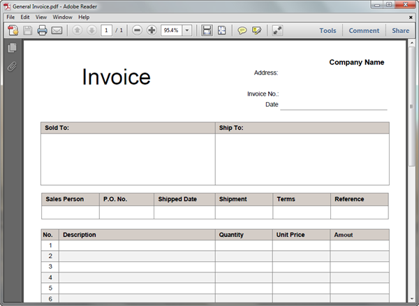 Invoice Templates for PDF