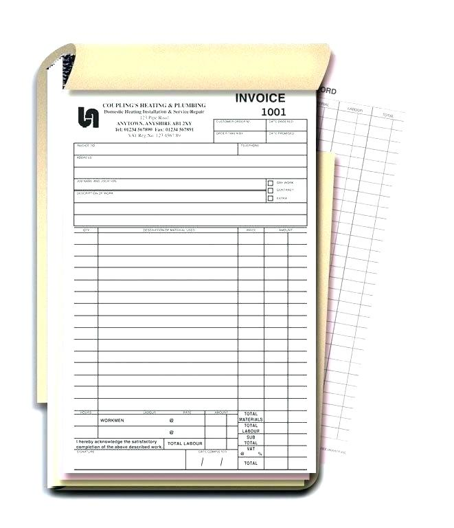 Personalised Duplicate Invoice Books Duplicate Invoice Pads
