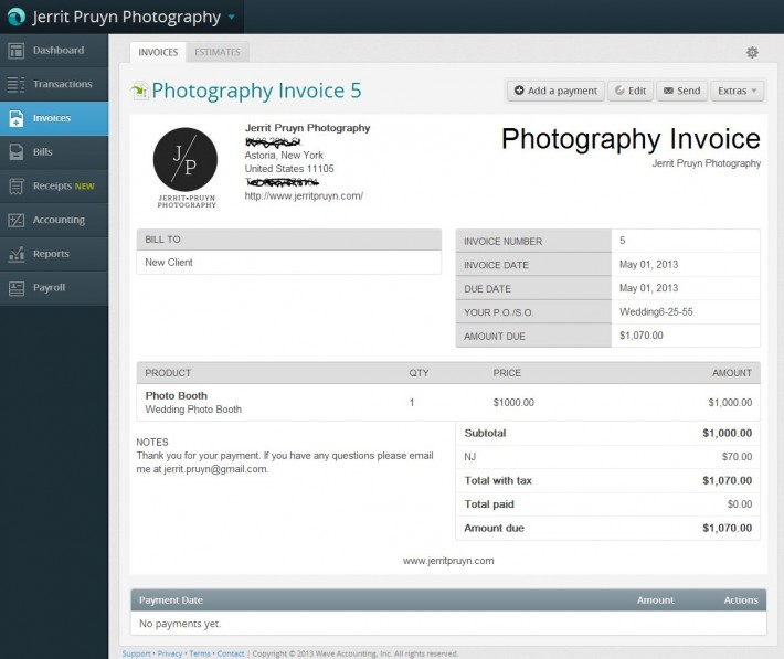 Free Invoicing, Accounting, Receipts and More with Wave Online