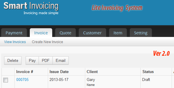 Lite Invoicing System by ilikecoding | CodeCanyon