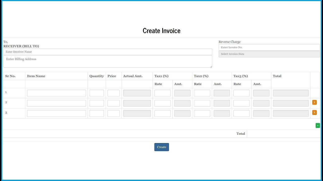 Invoice System Using Jquery PHP Mysql and Bootstrap 2 YouTube