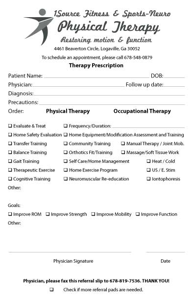 physical therapy invoice template referral pad samplesspecialty