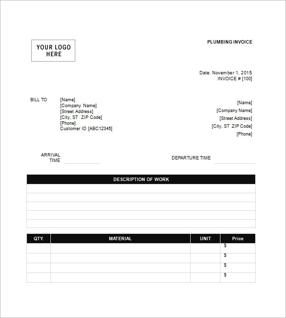 plumbing invoice Black.dgfitness.co