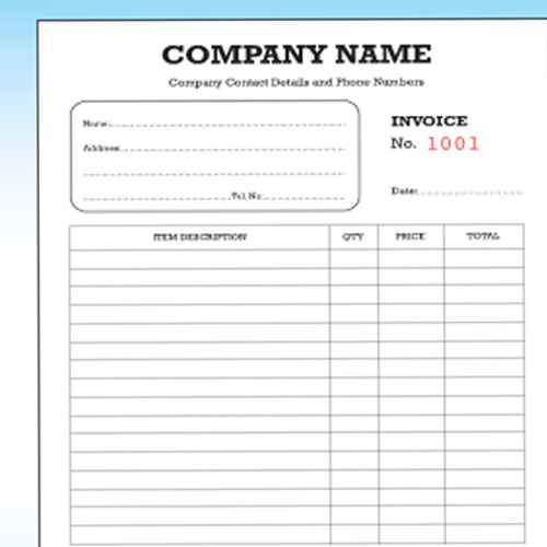 Personalized Invoice Books Invoice Book With Carbon Copy Charla