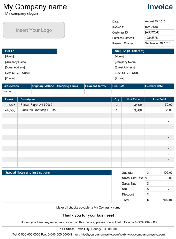 Free Pro Forma Invoice Template | Excel | PDF | Word (.doc)