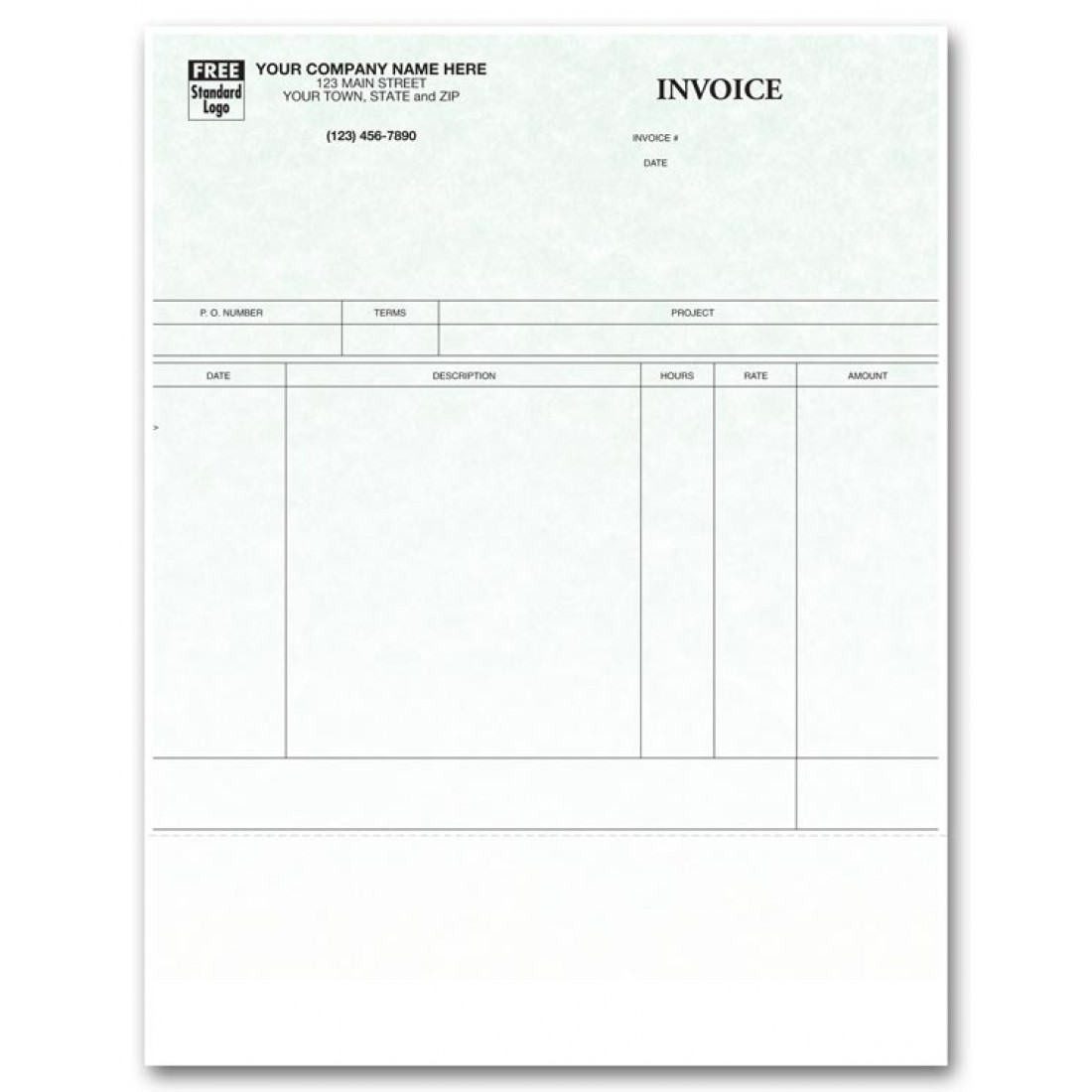 Laser Service Invoice for ProVenture Parchment | Free Shipping