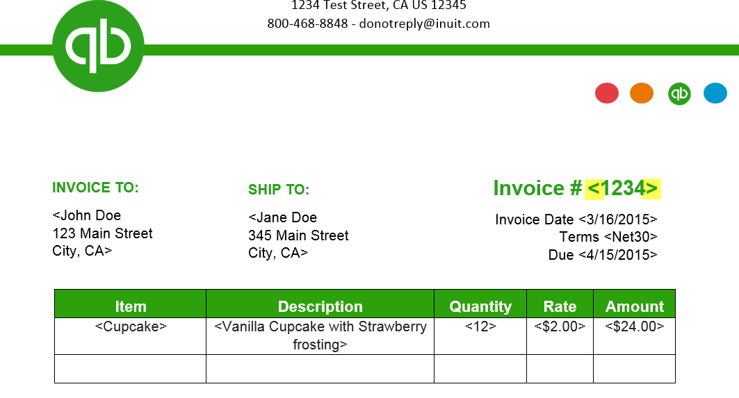 quickbooks invoice template excel Black.dgfitness.co