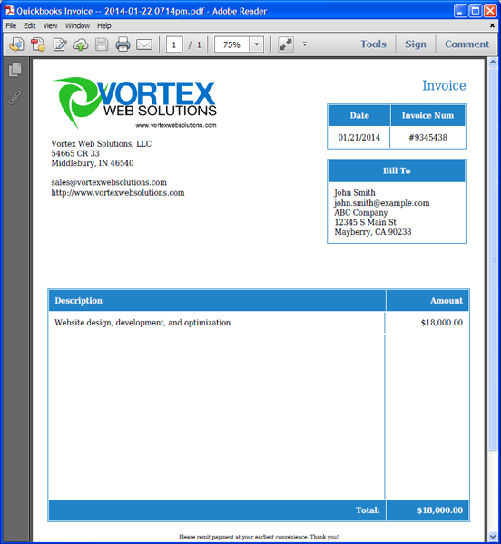 Quickbooks Template invoice templates for quickbooks Invoice Templat