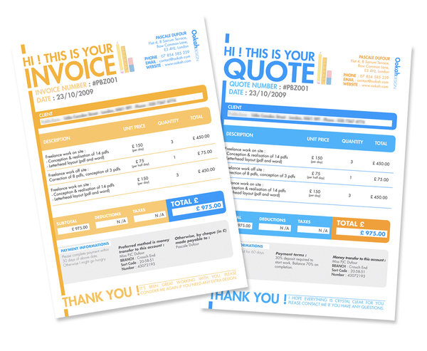 Invoice Quote Creative Ideas Quote And Invoice Colesthecolossusco